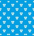 t-shirt heart pattern seamless blue vector image