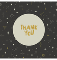 Thank you card Geometric seamless pattern Gold vector image