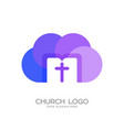 the cross of jesus christ the cloud vector image vector image