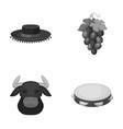 the hat of the todeador the matador a bunch of vector image vector image