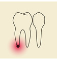 Toothache Pulpitis vector image