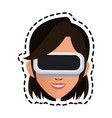virtual reality icon image vector image vector image