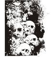 wall of skulls illustration vector image vector image