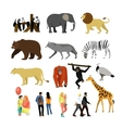 Zoo animals isolated on white background vector image vector image