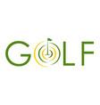 golf text symbol flag logo vector image