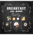 Chalkboard Breakfast Menu vector image