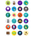 Color round economy icons set vector image