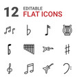 12 melody icons vector image vector image