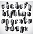 3d geometric bold font vector image vector image