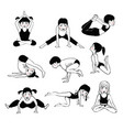 a set of children yoga 2 vector image