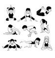 A set of children yoga 2
