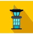 Airport control tower flat icon vector image vector image