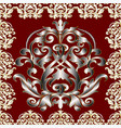 baroque seamless panel pattern vector image