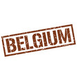 belgium brown square stamp vector image vector image