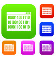 binary code set collection vector image