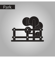 black and white style icon tree fence vector image vector image