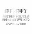 black of font and alphabet vector image vector image
