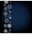 black snow background vector image