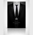 black suit and tuxedo with black tie vector image vector image