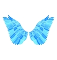 Blue wing vector image vector image
