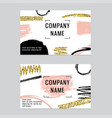 business cards with gold glitter andstrokes vector image