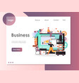 business website landing page design vector image vector image