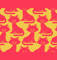 cat seamless pattern pet ornament animal texture vector image vector image