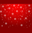 christmas red background with snowflakes vector image vector image