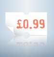 Clean white price tag vector image vector image