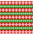 cute christmas or new year pattern with diamond vector image