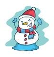 Cute snowman collection Christmas theme vector image
