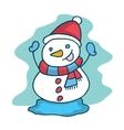 Cute snowman collection Christmas theme vector image vector image