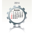 December 2014 - calendar vector image vector image