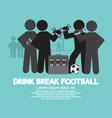 Drink Break Football Symbol vector image vector image