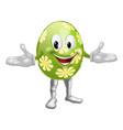 easter egg man vector image