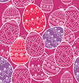 Easter eggs seamless background vector image vector image