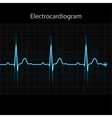 Electrocardiogram - ECG on black background vector image
