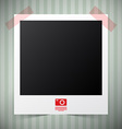 Empty Photo Film Frame with Camera Icon on Retro vector image vector image