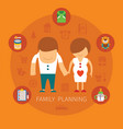 family planning concept vector image vector image