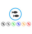 fish pair rounded icon vector image vector image