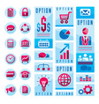 flat infographics elements set of different vector image vector image