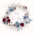 floral rose frame for wedding vector image vector image
