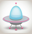 flying saucer vector image vector image