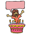 girl birthday vector image