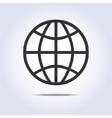 Globe simple icon gray colors vector image