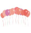 group of colored balloons vector image vector image