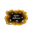happy halloween day paper carve background cute vector image vector image