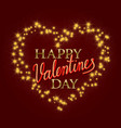 happy valentines day golden and gradient luminous vector image
