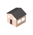 house home building isometric style vector image