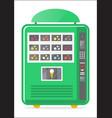 ice cream vending machine icon vector image vector image